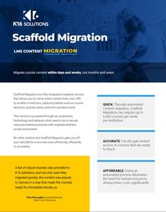 Scaffold Migration datasheet screenshot